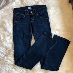 Size 25 Hudson Beth baby boot dark wash jeans